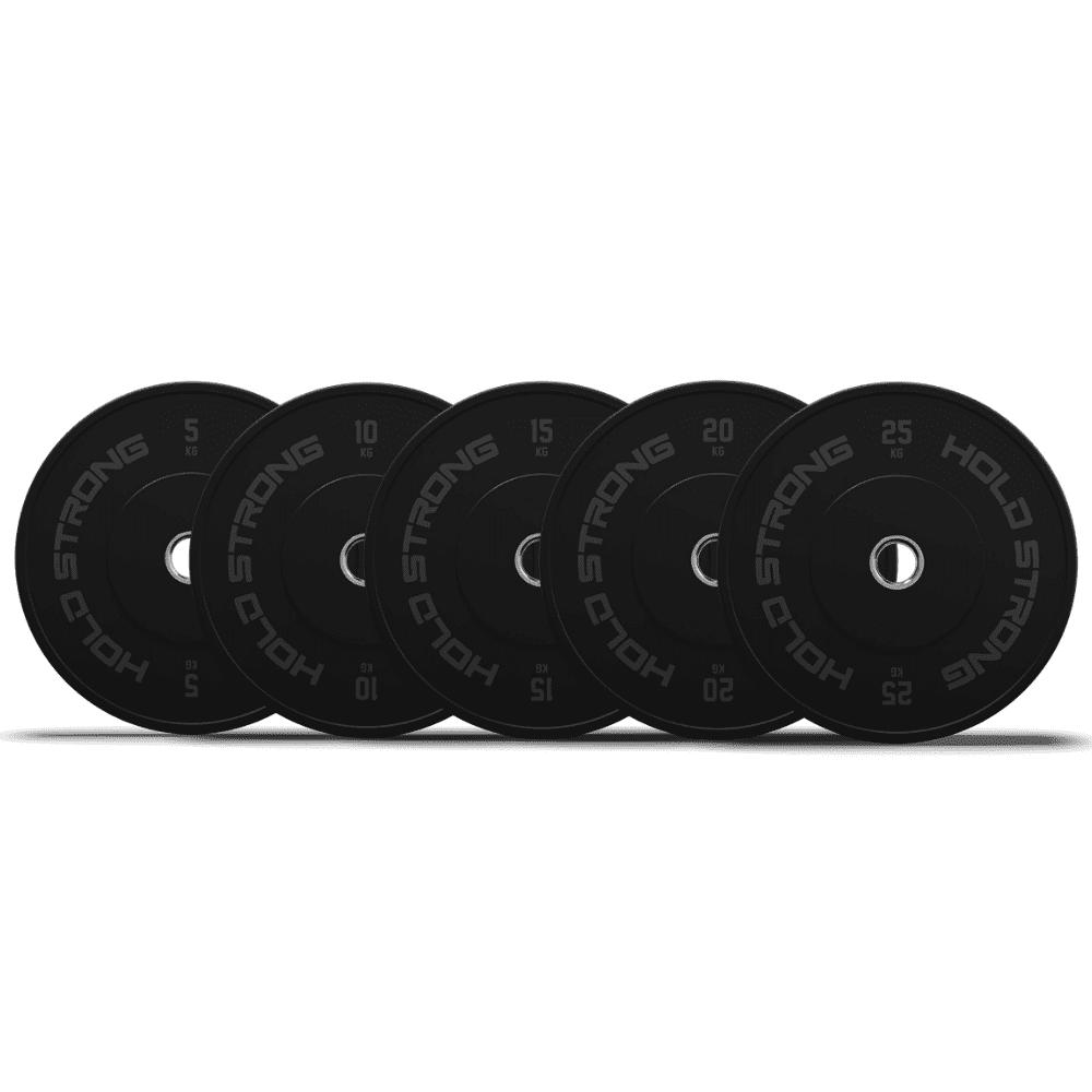 HOLD STRONG BUMPER PLATES 黑色橡膠槓片5-25kg